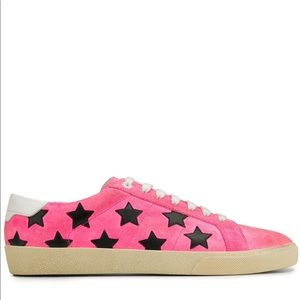 Saint Laurent Fuchsia Star Sneakers Sz 36.5